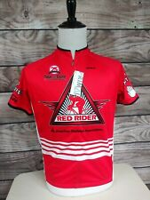 American Diabetes Red Rider Primal Raglan Jersey Bicycle Racing Shirt Mens LARGE