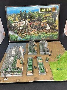 FALLER HO/OO B-254 BUILDINGS - GREEN HOUSES MARKET GARDEN WITH ORIGINAL BOX