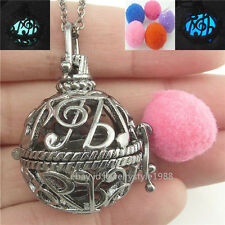 Perfume Essential Oil Fragrance Diffuser Music Note Locket Necklace Aromatherapy