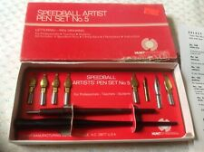 New listing Vintage Hunt Speedball Artist Pen Set No 5 with Box & Inserts #3065 Nos 11 pc
