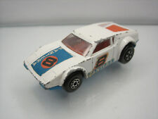Diecast Matchbox Superfast De Tomaso Pantera No.8 White/Blue Good Condition