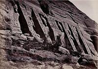 Egitto Tempio Abu Simble Foto Albumina Stampa Verso 1890 IN Piccolo Formato