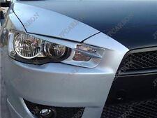 Unpainted Headlight Eyebrows Eyelids for 08-14 Mitsubishi Lancer EVO 10 EX #B