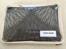 "FRETTE EURO Continental Fashion SHAM Lux Ventagli 26x26"" Grey Silver Cloud $200"