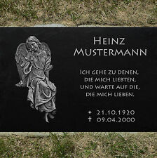 Grabstein Grabplatte Grabmal Grabschmuck Engel-10 ► Wunschgravur ◄ 50 x 30 cm