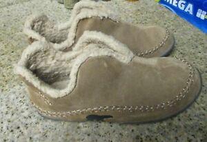 Sorel Men's Manawan Brown Suede Slippers Moccasins Slip On Size 9 NM1466-251