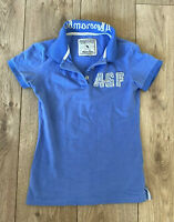 Abercrombie & Fitch Women's Polo Shirt Blue Small 100% Cotton