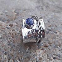 Lapis Lazuli Stone  Solid 925 Sterling Silver Spinner Ring Meditation Ring sr980