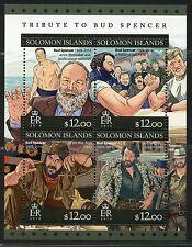 SOLOMON ISLANDS 2016 TRIBUTE TO BUD SPENCER  SHEET MINT NH