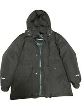 Supreme 700 Fill Down Taped Seam Parka Black size L winter jacket worn With Care