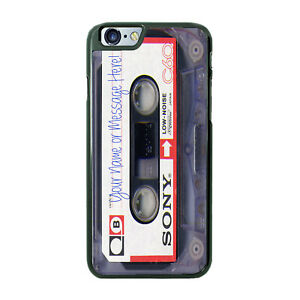 Sony Cassette Tape with ANY Text Phone Cover Case For iPhone Samsung LG Google