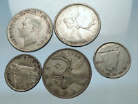 GROUP LOT of 5 Old SILVER Europe or Other WORLD Coins for your COLLECTION i67947