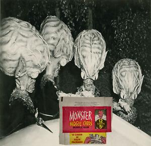 1963 Topps Monster Midgee Triples 12 Cards 5c Bubble Gum Wax Wrapper - Good
