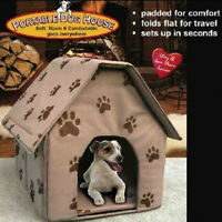 Foldable Dog House Small Footprint Pet Bed Tent Cat Kennel Indoor Portable Trave