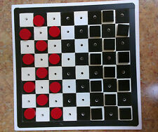Checkers For Low Vision, Board games, 12 black 12 red