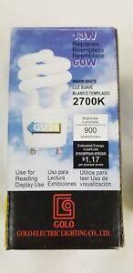 New 13W CFL Mini Spiral GU24 Base 2700K Warm White 60W Fluorescent Light Bulb