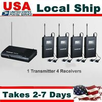 Takstar WPM-200 UHF In-Ear Stereo Wireless Monitor System Transmitter 4 Receiver