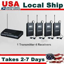 Takstar WPM-200 Wireless In-ear Monitor System UHF Stereo System w/ 4 Receiver
