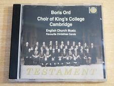 Choir Of King's College Cambridge/Testament/1997 Mono CD Album/Boris Ord