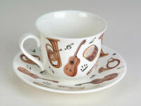 Roy Kirkham Jumbotasse Concert Musikinstrumente inkl. Untertasse große Tasse