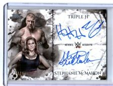 WWE Triple H & Stephanie McMahon 2018 Topps Undisputed Autograph Card SN 2 of 25