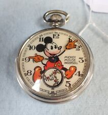 "Rare 1936 Original Ingersoll English Mickey Mouse Pocketwatch (""Red Beard"")"