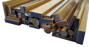Brass Stock Metal Round, Square, Flat Bar, Rod, Hex & L Angle 50mm to 600mm long