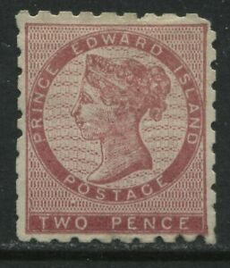 Prince Edward Island 1861 2d dull rose unused no gum