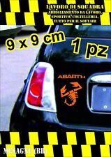adesivo adesivi abarth stickers tuning scorpione auto fiat 500 moto ARANCIONE