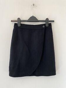 Dolcezze 100% Wool Black Skirt Size: XS, W: 23''