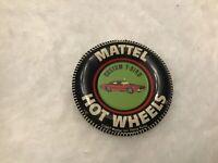 VINTAGE 1967 MATTEL HOT WHEELS RED LINE CUSTOM T-BIRD TIN TAB BUTTON BADGE