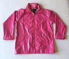 Shed Rain Womens Size Medium/Large Shiny Pink Rain Jacket/Coat Zip Lightweight