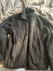 Uniqlo Fluffy Black Jacket Size Large Worn