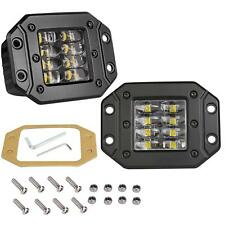 2x 96W 4inch Flush Mount LED Work Lights Reverse Backup Bumper Fog Driving Lamps