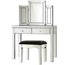 Artiss MFDRESS8215L3SET Mirrored Dressing Table-Silver
