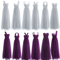 Womens Sexy Mesh Bridesmaid Long Dress Formal Evening Party Prom Ball Gown Hot