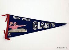 VTG NFL New York Giants Rare Logo Full Size Felt Pennant 12x30 Inches White