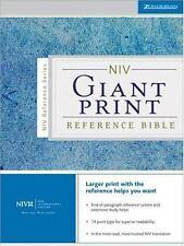 NIV Holy Bible Giant Print Reference Edition, Zondervan