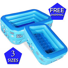 Inflatable Kids Swimming Pool Outdoor Water Play Large Children Summer Bath Tub