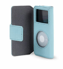 Belkin Leather Folio Case + Lanyard for Ipod Nano 1G 2G 1st 2nd Gen Blue F8Z058