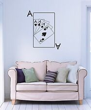 Wall Stickers Vinyl Decal Ace Poker Cards Gambling Business (ig913)