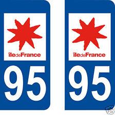 stickers autocollants plaques immatriculation auto Département Val d'Oise 95