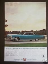 blue CADILLAC for 1967 model vintage 1966 AD