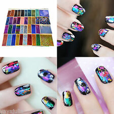 10 Random Lot Colors Foil Galaxy Nail Sticker Paper Shiny Decal 8x60cm yayajulia