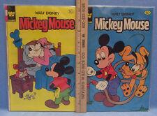 Walt Disney Comic Books Mickey Mouse Goofy Pluto Whitman Publishiing  Lot of 2