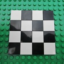 Lego Black and White Floor Tiles boards city town smooth kitchen checkered 2x2