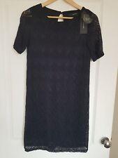 BNWT VERO MODA LADIES NAVY BLUE LACE DRESS SIZE UK 8