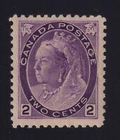 Canada Sc #76 (1898) 2c purple Numeral Die I Mint VF NH MNH