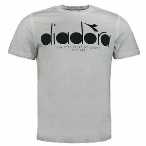 Diadora Short Sleeve Round Neck Grey Alaska Mens T-Shirt 75042