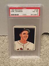 1950 Bowman #188 - EARL JOHNSON - PSA 4 VG-EX - Boston RED SOX - RH